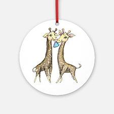 baby giraffe twins Ornament (Round)