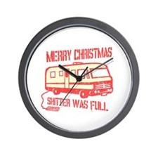 Merry Christmas Shitter Was Full Wall Clock