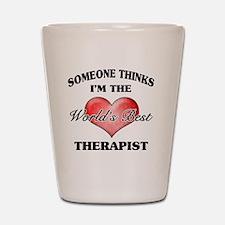 World's Best Therapist Shot Glass