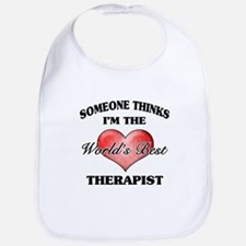 World's Best Therapist Bib