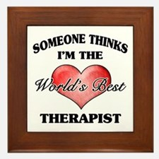 World's Best Therapist Framed Tile