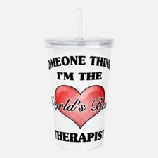 World's Best Therapist Acrylic Double-wall Tumbler