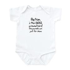 Payton is the Boss Infant Bodysuit