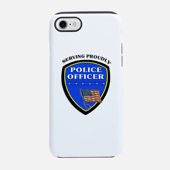 Police Serving Proudly iPhone 7 Tough Case