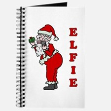 Funny Christmas Santa Elfie Journal