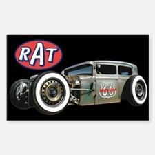 RAT - Route 66 Sticker (Rectangle)