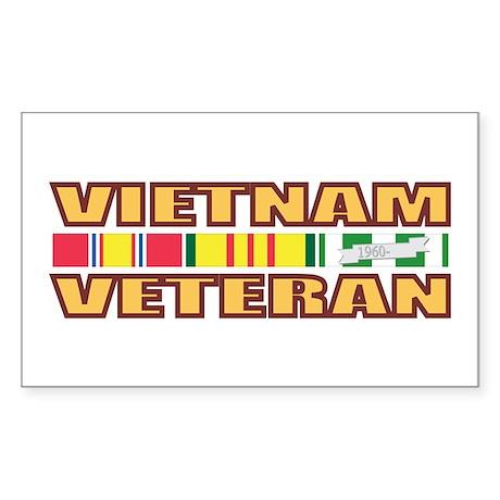 Vietnam Veteran Rectangle Sticker