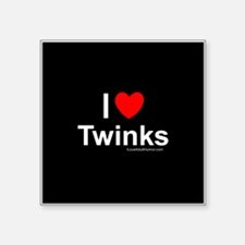 "Twinks Square Sticker 3"" x 3"""