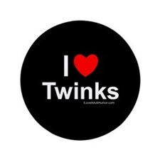 """Twinks 3.5"""" Button"""
