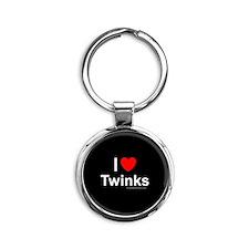 Twinks Round Keychain