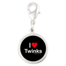 Twinks Silver Round Charm
