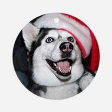 Christmas Husky Ornament (Round)