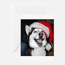 Christmas Husky Greeting Cards