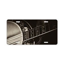 Bluegrass Banjo Aluminum License Plate