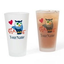 Bue Owl (p) Drinking Glass