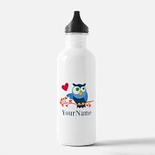 Bue Owl (p) Water Bottle