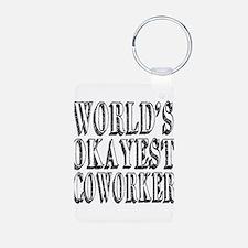 World's Okayest Coworker Keychains