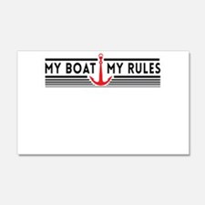 My boat my rules Wall Decal
