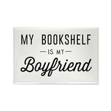 My book shelf is my boyfriend Magnets