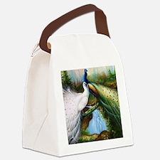 peacocks Canvas Lunch Bag