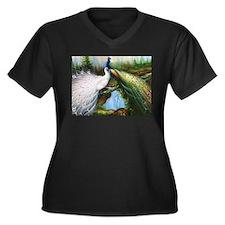 peacocks Plus Size T-Shirt