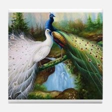 peacocks Tile Coaster