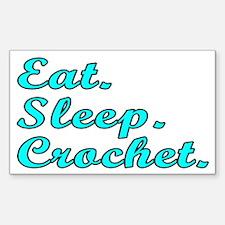 Eat. Sleep. Crochet - Decal