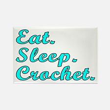 Eat. Sleep. Crochet - Rectangle Magnet