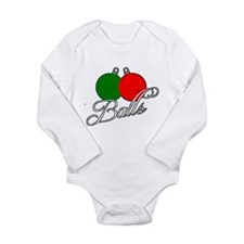 Ugly Christmas Sweater Balls Body Suit