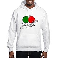 Ugly Christmas Sweater Balls Hoodie