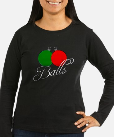 Ugly Christmas Sweater Balls Long Sleeve T-Shirt