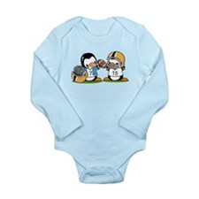 Grid Iron Penguins (2) Long Sleeve Infant Bodysuit