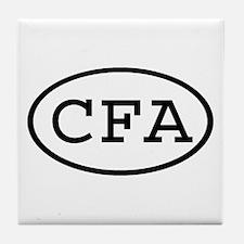 CFA Oval Tile Coaster