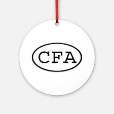 CFA Oval Ornament (Round)