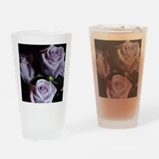 Lavender Rose Bouquet Drinking Glass
