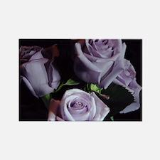 Lavender Rose Bouquet Rectangle Magnet