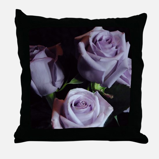 Lavender Rose Bouquet Throw Pillow