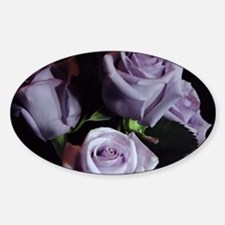 Lavender Rose Bouquet Sticker (Oval)