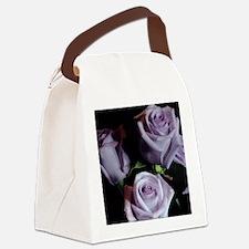 Lavender Rose Bouquet Canvas Lunch Bag