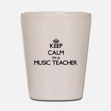 Keep calm I'm a Music Teacher Shot Glass
