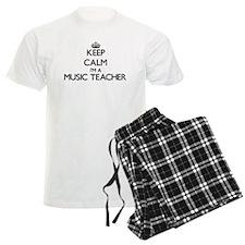 Keep calm I'm a Music Teacher Pajamas