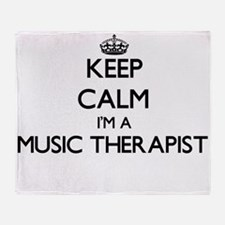 Keep calm I'm a Music Therapist Throw Blanket