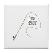 Gone Fishin Tile Coaster
