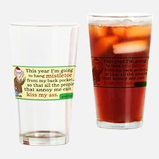 Aunty Acid: Mistletoe Drinking Glass