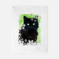 BLACK CAT & SNOWFLAKES Twin Duvet
