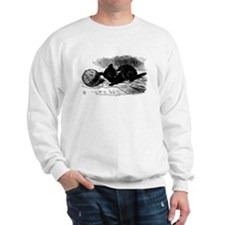 Alice's Black Kitten Sweatshirt