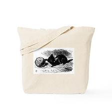 Alice's Black Kitten Tote Bag