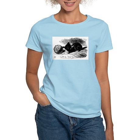 Alice's Black Kitten Women's Light T-Shirt