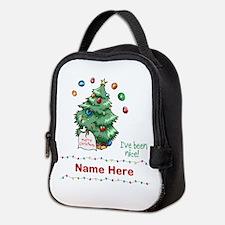 Custom Christmas Tree Neoprene Lunch Bag