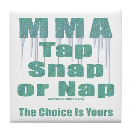 MMA Tshirts and Gifts Tile Coaster